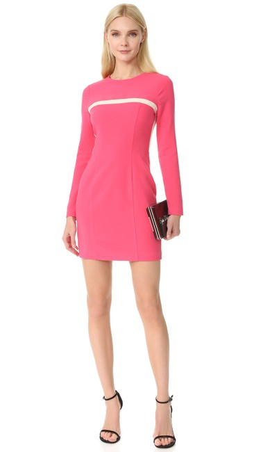 Item - Coral Perkin Colorblock Mini Mid-length Cocktail Dress Size 6 (S)