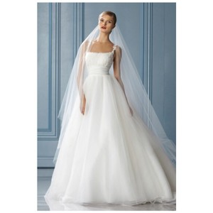 Watters & Watters Bridal Ivory Lace / Organza Style Megan Feminine Wedding Dress Size 6 (S)