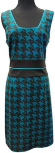 Max and Cleo short dress Blue and Black Geometric Ponte on Tradesy