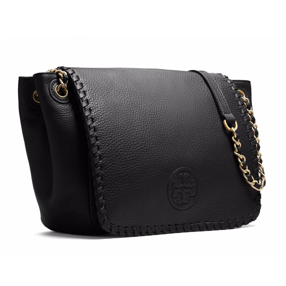 c68081818bf1 Tory Burch Marion Small Black Leather Shoulder Bag - Tradesy