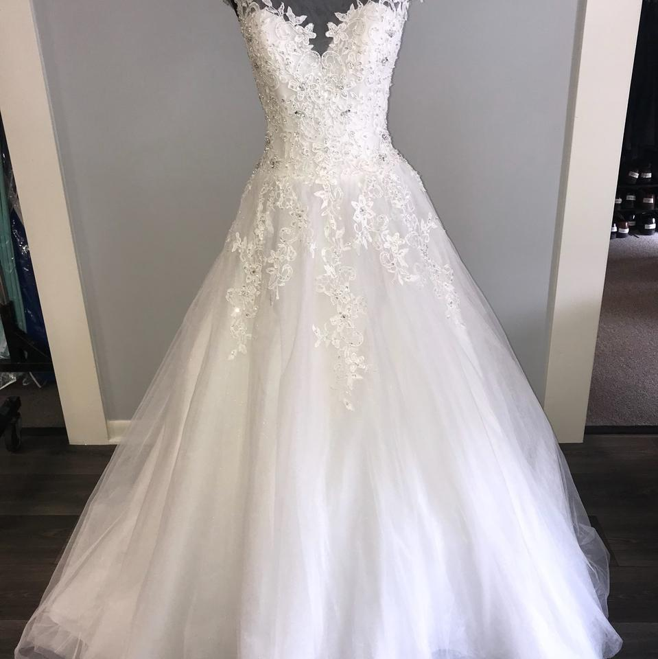 House Of Wu Ivory Tulle Ball Gown Formal Wedding Dress Size 6 S
