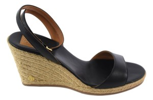 6e7c968a427e Tory Burch Black Landon Espadrilles Wedges Size US 7.5 Regular (M