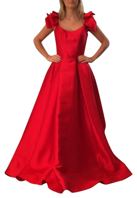 Item - Red 51831 Long Formal Dress Size 4 (S)