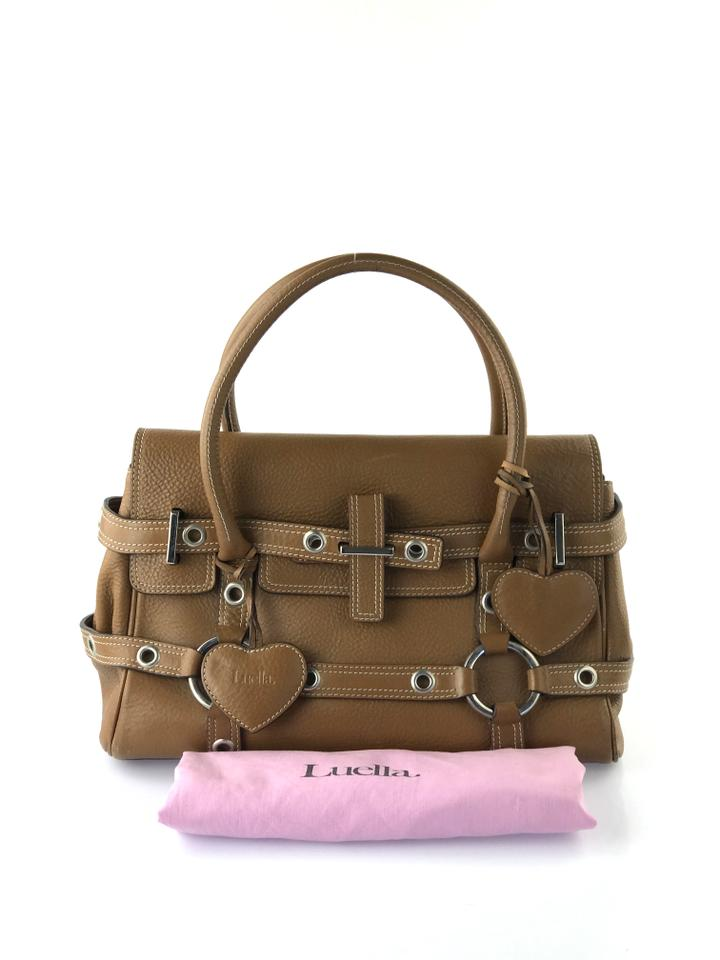 e43e3bf9d779 Luella Baby Gisele Brown Leather Satchel - Tradesy