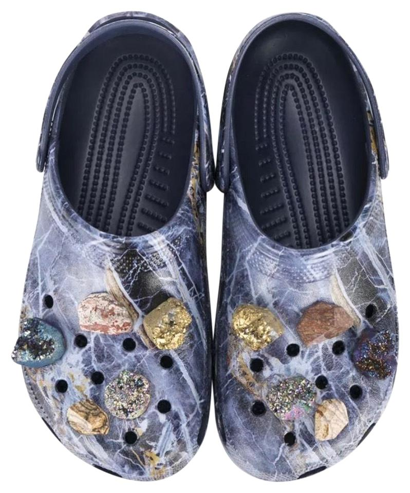 Christopher Christopher Christopher Kane Navy Marble Crocs Mules/Slides a1fed6