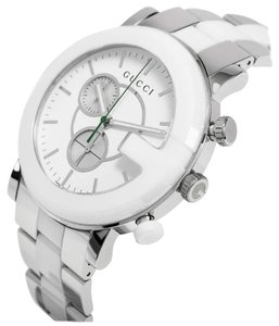 Gucci ucci G-Timeless Chronograph Steel and Ceramic Watch