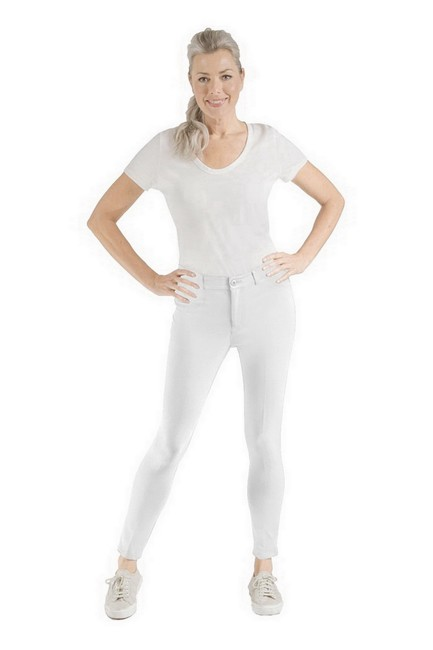 Item - White Harley Ponte Knit Ankle Pants Size 4 (S, 27)