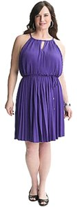 Lane Bryant Plus Size Empire Waist Elastic Waist Dress