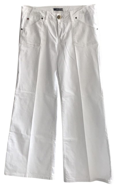 Item - White Long Flare Leg Jeans Size 30 (6, M)
