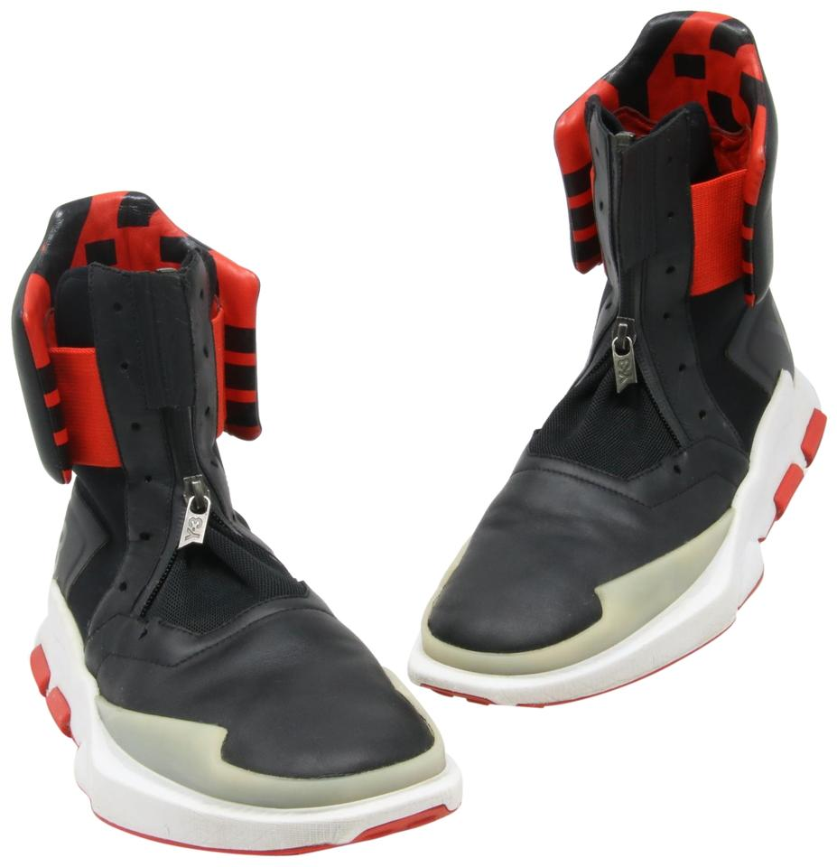 hot sale online 639d0 9dd17 Y-3 Black and Red Adidas 2016 Noci 0003 High-top Sneakers