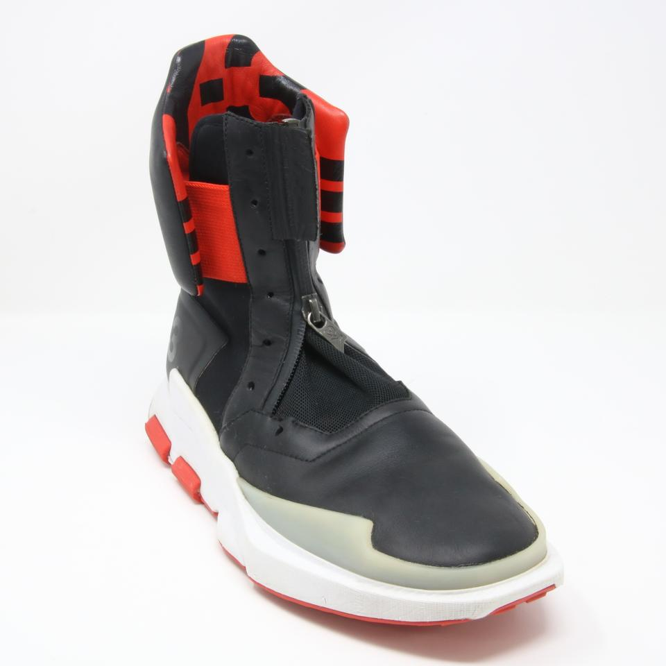 cb1e39b2a Y-3 Black and Red Adidas 2016 Noci 0003 High-top Sneakers Size US 7.5  Regular (M