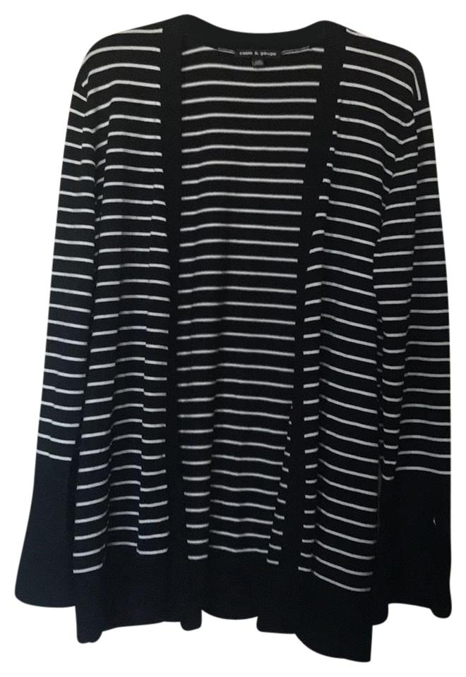 Cable Gauge Black And White Striped Jacket Size 12 L Tradesy