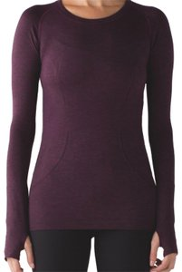 Lululemon NWT lululemon plum / Black Swiftly Long Sleeve Crew - Size 4