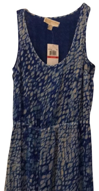 Item - Blue White with Gold Summers Long Night Out Dress Size 0 (XS)