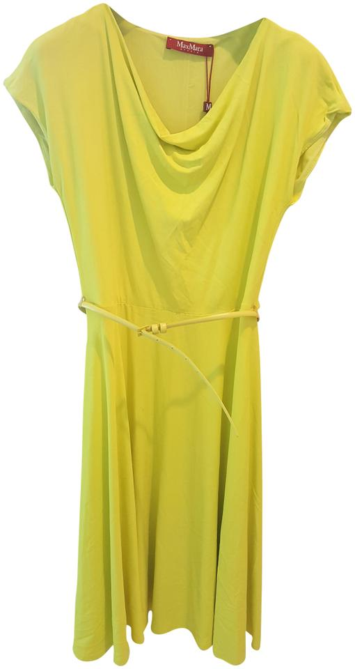 Max Mara Yellow Formal Dress
