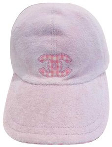 Chanel CC EMBELLISHED TERRY BASEBALL CAP HAT