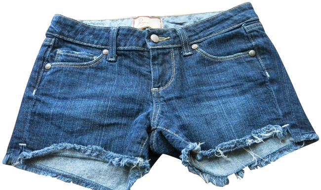 Paige Dark Blue Denim Sliver Lake Shorts Size 2 (XS, 26) Paige Dark Blue Denim Sliver Lake Shorts Size 2 (XS, 26) Image 1