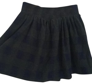 Free People Mini Skirt Navy and Green