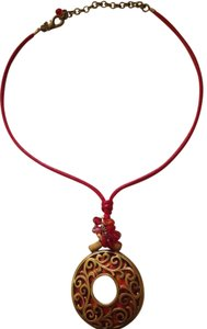 Chico's Chico's red flame necklace