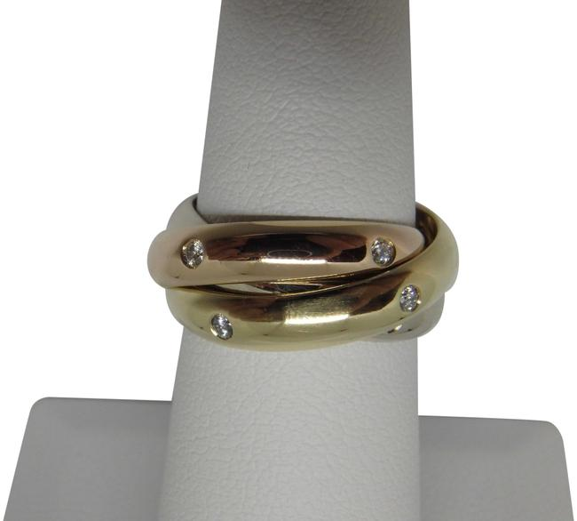 Item - 18k 3-color Gold and Diamonds Band Trinity 49 Us 5 Ring