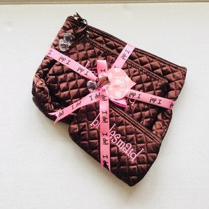 Mudpie Chocolate Brown 3pc Cosmetic Bags 3 Sets