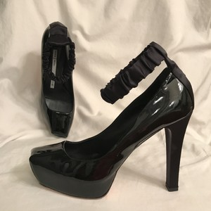 dusica dusica Patent Leather Hidden Platform Platform Satin Designer Black Pumps