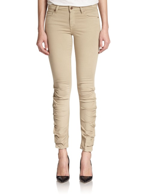 Item - Beige Women's Brown Sooo Soft Ruched Jeans/Pants New Skinny Jeans Size 28 (4, S)