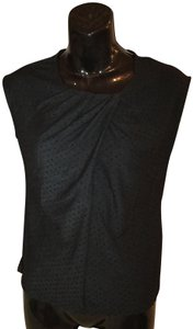 Talbots Textured Casual Dressy Top Black