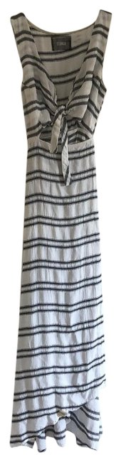 Reformation White W/ Black Stripes 143248 Long Casual Maxi Dress Size 4 (S) Reformation White W/ Black Stripes 143248 Long Casual Maxi Dress Size 4 (S) Image 1