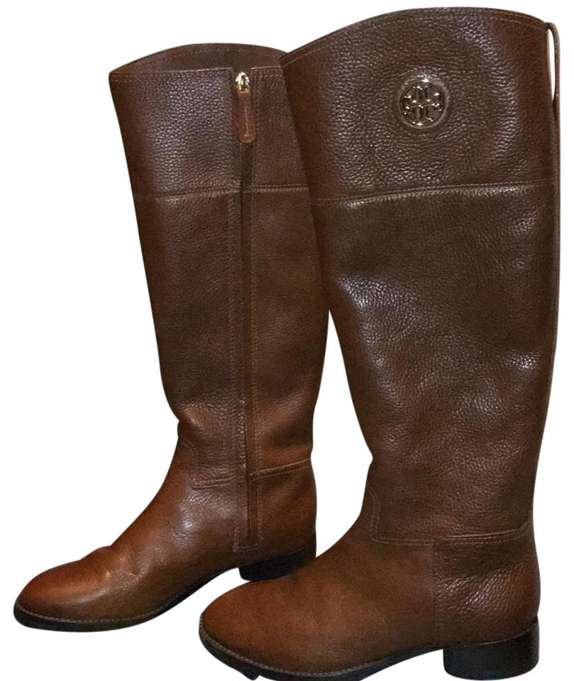 c477f0561bdc8e Tory Burch 22158543 Or Junction Riding Boots Booties Size US 7.5 ...
