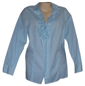 Lane Bryant Button Down Shirt Blue
