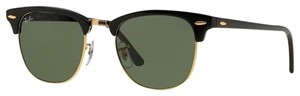 Ray-Ban NWOT black/gold ray ban classic clubmaster
