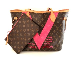 Louis Vuitton Neverfull Monogram Limited Edition Cabas Mm Shoulder Bag