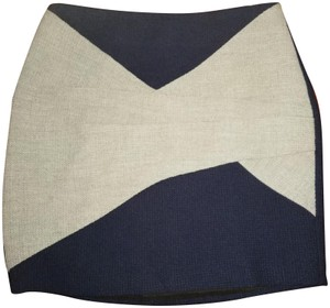 Thakoon Addition Mini Skirt Navy grey