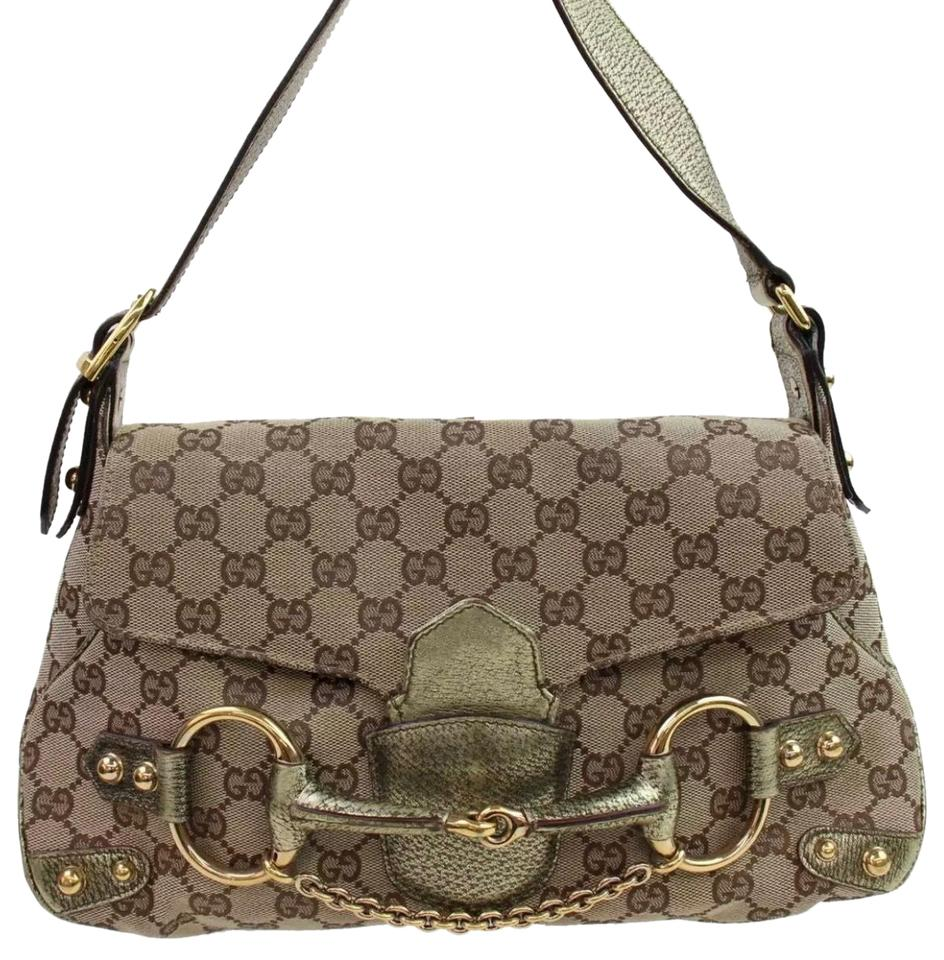 16db19cf4 Gucci Pelham Monogram Limited Edition Tom Ford Runway Beige Leather ...