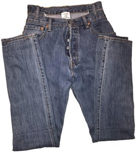 Vetements Reworked Denim Levi's High Waisted Medium Wash Straight Leg Jeans