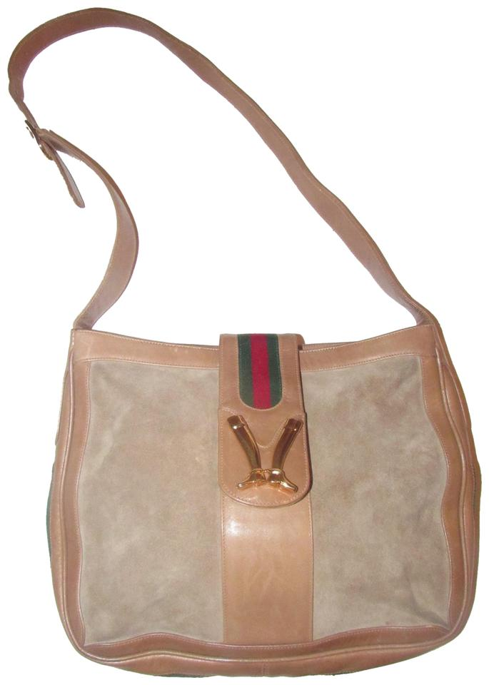 7bbec86e8ee0 Gucci Boot Snap High-end Bohemian Mint Vintage Sherry Frame Rare Early Hobo  Bag Image ...