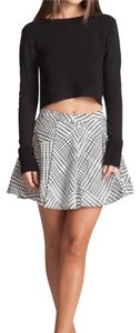 Bardot Mini Skirt black and white
