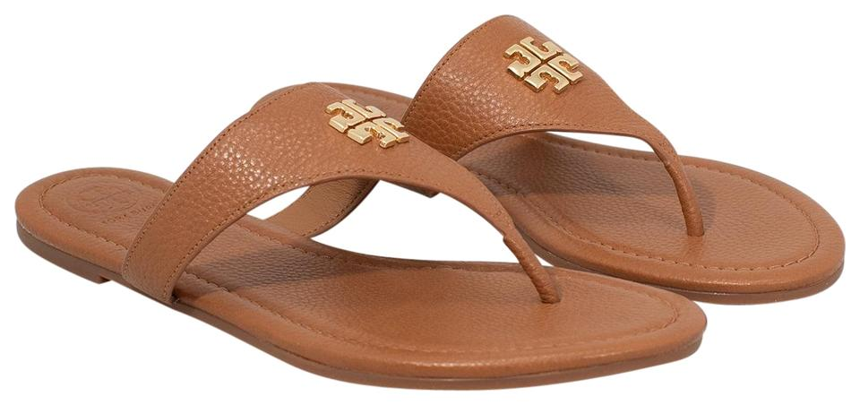 bb653085b65d Tory Burch Royal Tan Jolie Flat   Tumbled Leather Sandals Size US 9 ...