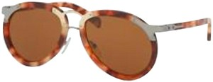 Prada PRADA Spr 01t U64-2z1 Red Havana / Brown Aviators Sunglasses PR 01ts 5
