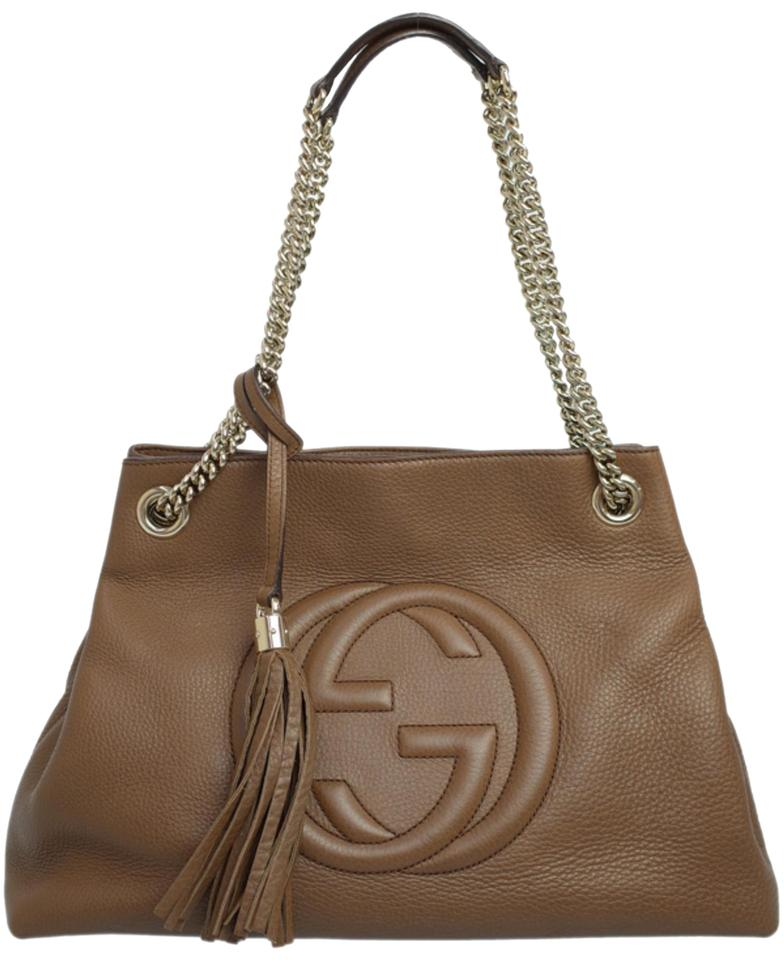 8473545f042d Gucci Soho Chain Tote 228742 Brown Leather Shoulder Bag - Tradesy