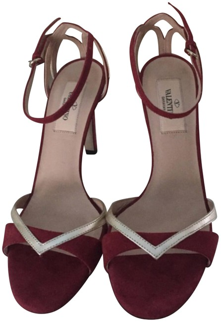 Item - Burgundy and Gold Formal Shoes Size US 6.5 Narrow (Aa, N)