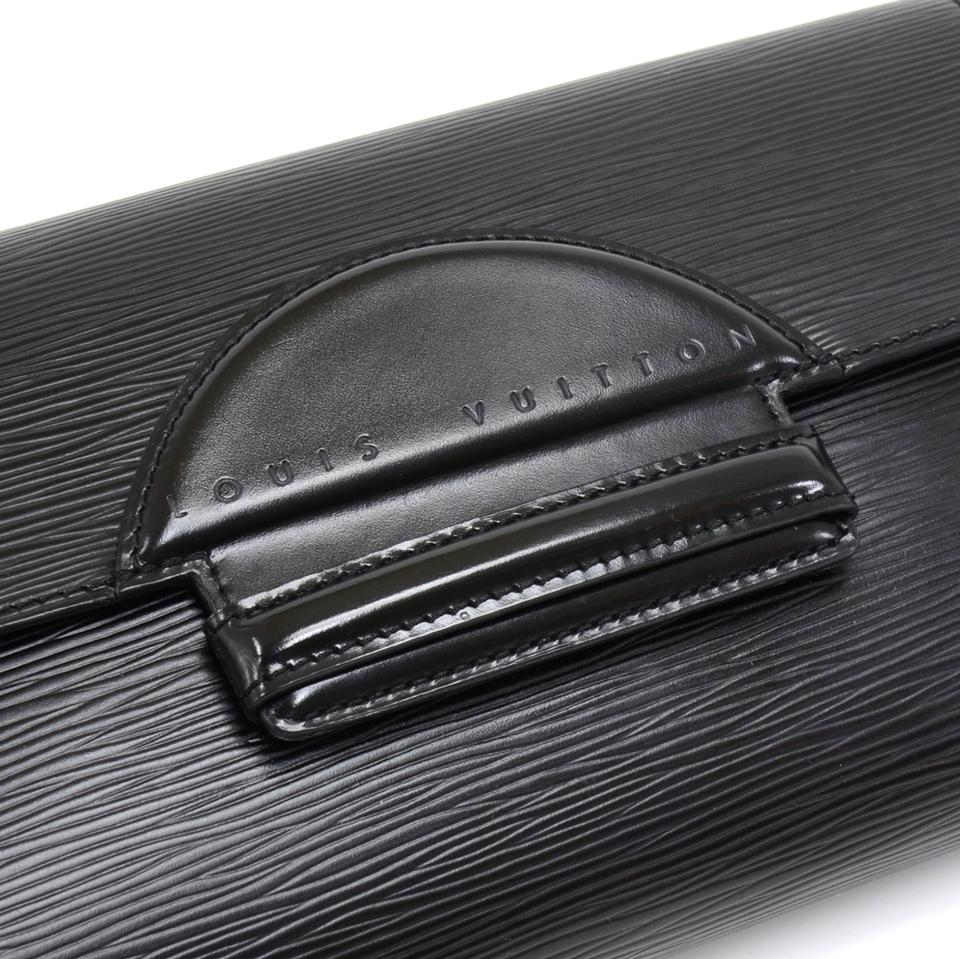 7324514a6a62 Louis Vuitton Pochette Vintage Chaillot Black Leather Clutch - Tradesy