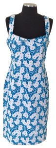 René Lezard short dress Blue with white on Tradesy