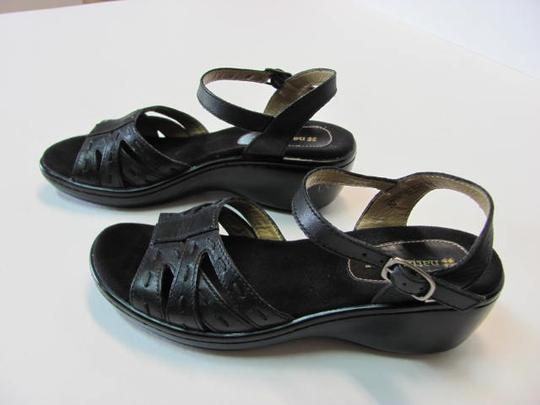 NATURALIER Leather Size 7n BLACK Wedges Image 2