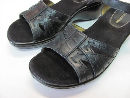 NATURALIER Leather Size 7n BLACK Wedges Image 3