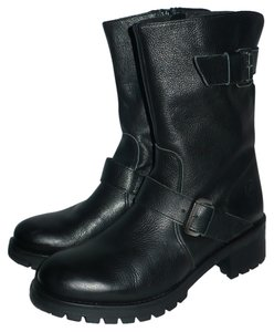 Bronx Leather Black Boots