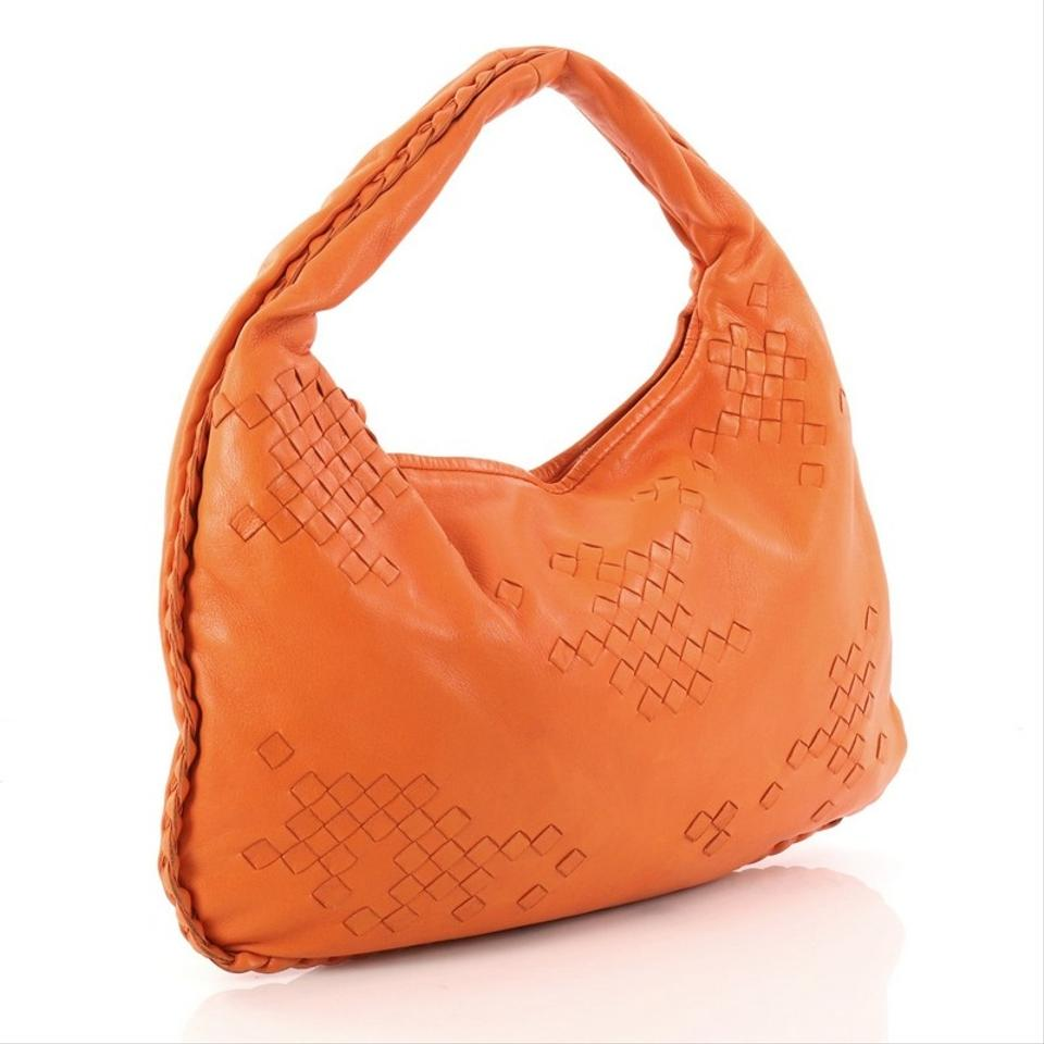 Orange Bag Bottega Intrecciato Leather Medium Hobo Detail With Veneta qqwp6xg4R