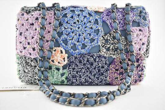 Chanel Floral Embroidered Crossbody Classic Shoulder Bag