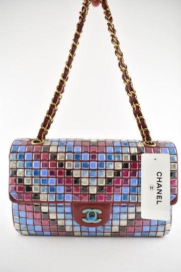 Chanel Embroidered Crossbody Classic Mosaic Shoulder Bag